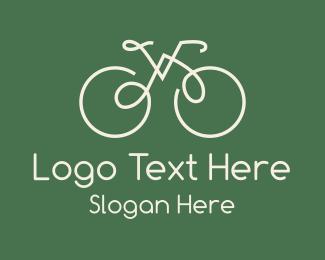 Bike - Green Bicycle Bike logo design