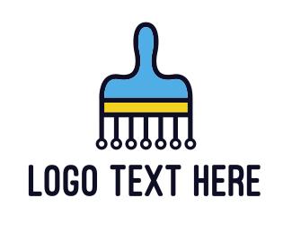 Paint - Paint Painting Technology logo design