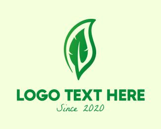 Eco - Green Eco Leaf logo design