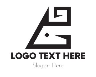 Abstract Black Animal Letter G Logo