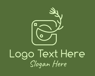 Digital Photography - Camera Lens Leaf logo design
