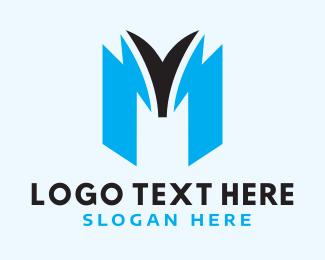 Mv - Blue M Gaming logo design
