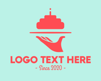 Waitress - Birthday Cake logo design