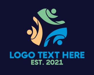 Human Resources - People Leaf Club logo design