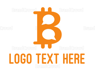 Crypto - Bitcoin Chat logo design