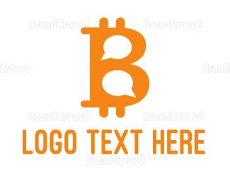 Blockchain - Bitcoin Chat logo design
