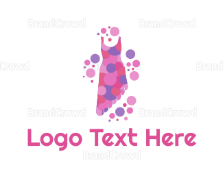 Dress Shop - Asymmetric Dress logo design