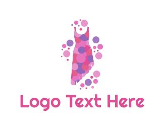 Boutique - Asymmetric Dress logo design