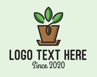 Gardener - Garden Plant Pot  logo design