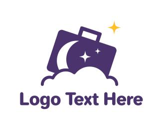 Career - Moon Briefcase logo design