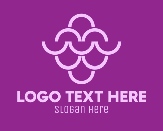 Grape - Abstract Purple Grapes logo design