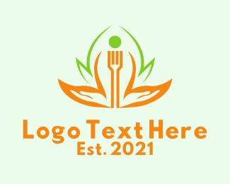 Food Store - Fork Food Stall logo design