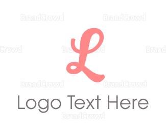 Letter L - Feminine Pink Letter L logo design
