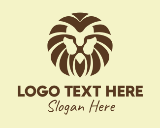 Wild - Wild Brown Lion logo design