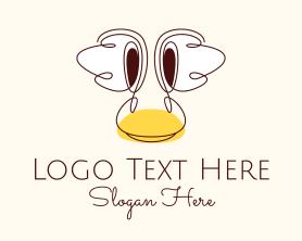 Little - Childish Duck Head logo design