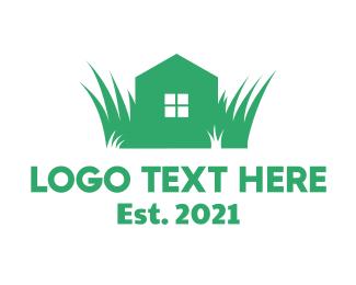Grass - House Grass Lawn logo design