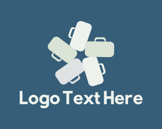 Suitcase - Bag Star logo design