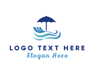 Water - Umbrella Resort logo design