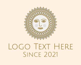 Astrological - Hypnotic Sun Face logo design