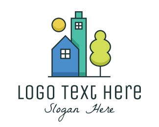 Landscape Architect - Simple Modern Real Estate  logo design