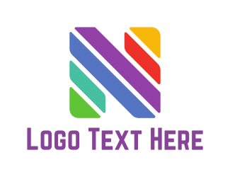 Letter N - Colorful Letter N logo design