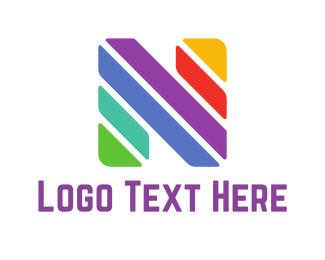 Multicolor - Colorful Letter N logo design