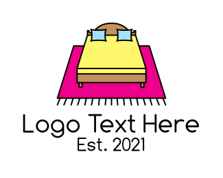 Accommodation - Colorful Bedroom Furniture logo design