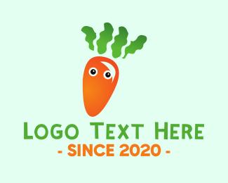 Vegetarian - Baby Carrot logo design
