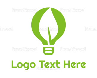 Bulb - Eco Idea logo design