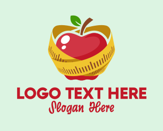 Nutrition - Healthy Apple Diet  logo design