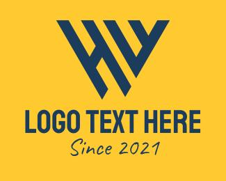 Initial - Corporate HW Monogram logo design