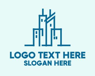 Skyscraper - Blue City logo design