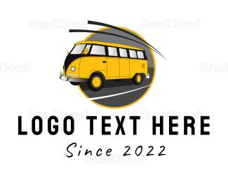 Van - Yellow Van logo design