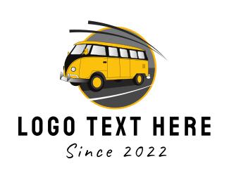 School Bus - Yellow Van logo design