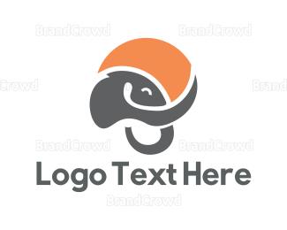 Elephant - Elephant Sunrise logo design