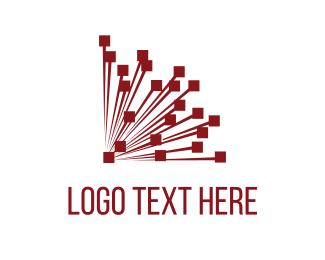System - Red Network  logo design