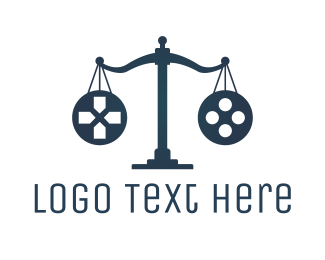 Lawyer - Justice Gaming logo design