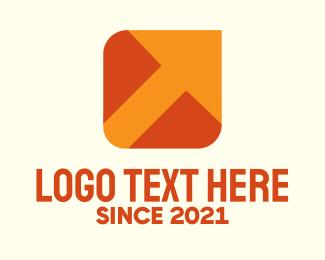 Crate - Orange Package Delivery Arrow logo design