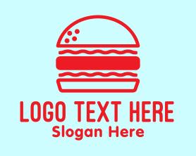 Burger - Red Burger Restaurant logo design