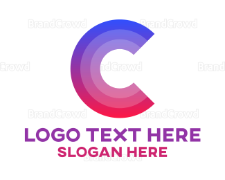 Corporation - Gradient Letter C logo design