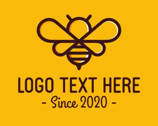 Bee Hive - Cute Bee Symbol logo design