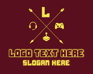 Pubg - Yellow Gaming Console Letter  logo design