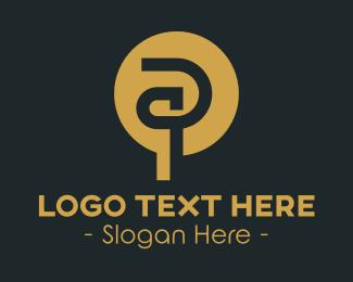 Rings - Creative Letter P logo design