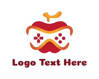 Game Community - Apple Game Controller logo design