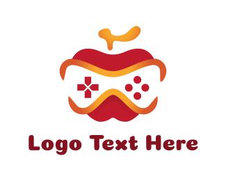 Game Community - Apple Game Controller logo design
