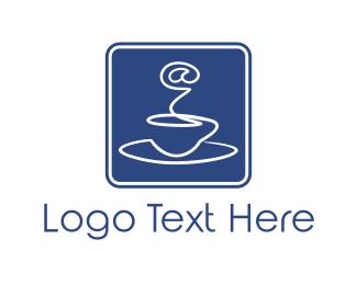 World Wide Web - Internet & Coffee logo design