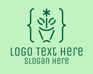 Indoor Plant - Asterisk Flower Pot  logo design