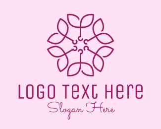 Elegant - Ornamental Elegant Flower logo design