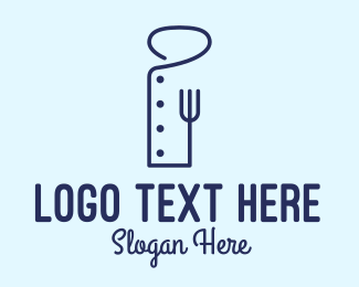 Food Vlogger - Outline Chef Uniform logo design