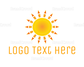 Tan - Sun Pencils  logo design